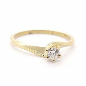14K Yellow Gold Diamond Engagement Ring Solitaire
